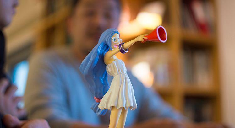 篠田さんをモデルにしたキャラクター