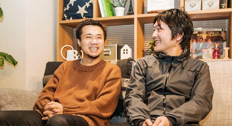 談笑する中村さんと光本さん
