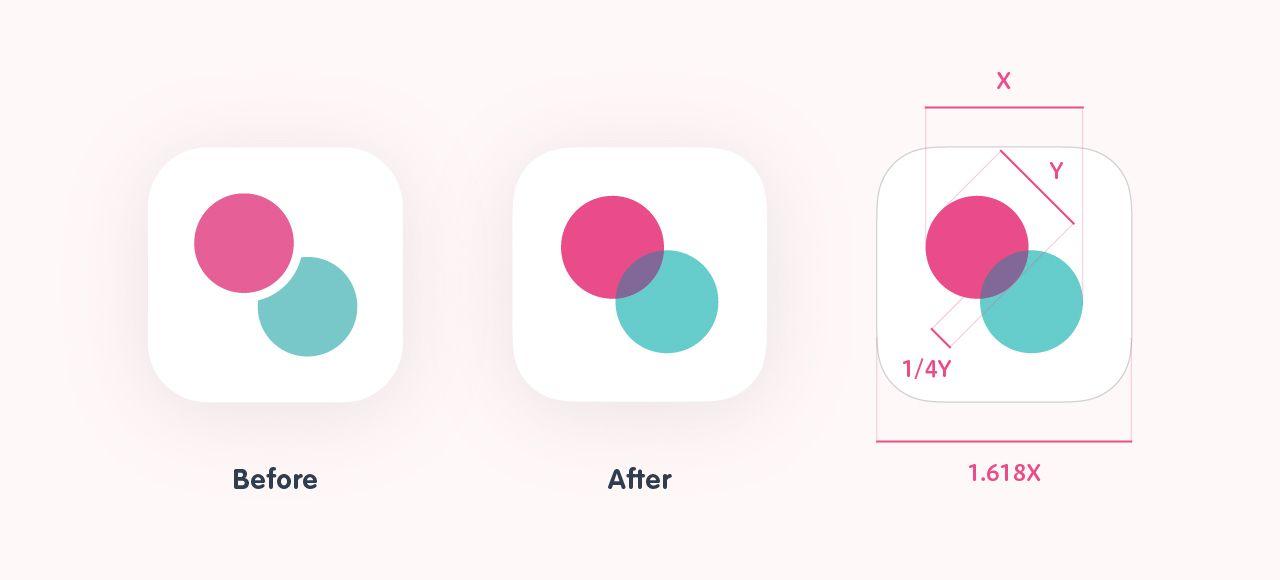 新旧のアプリアイコン