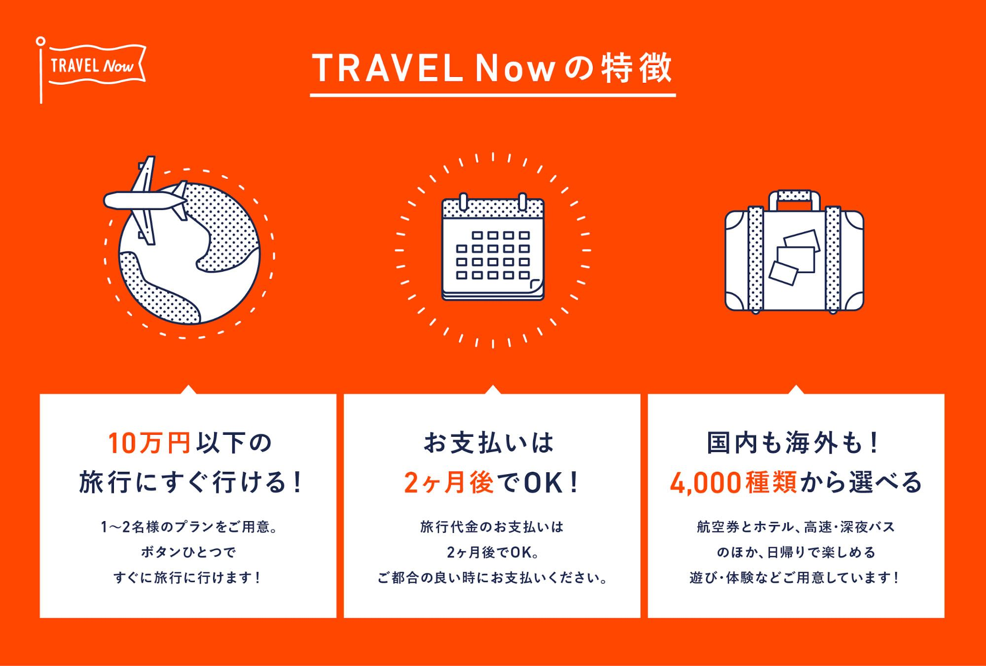 TRAVEL Nowの特徴