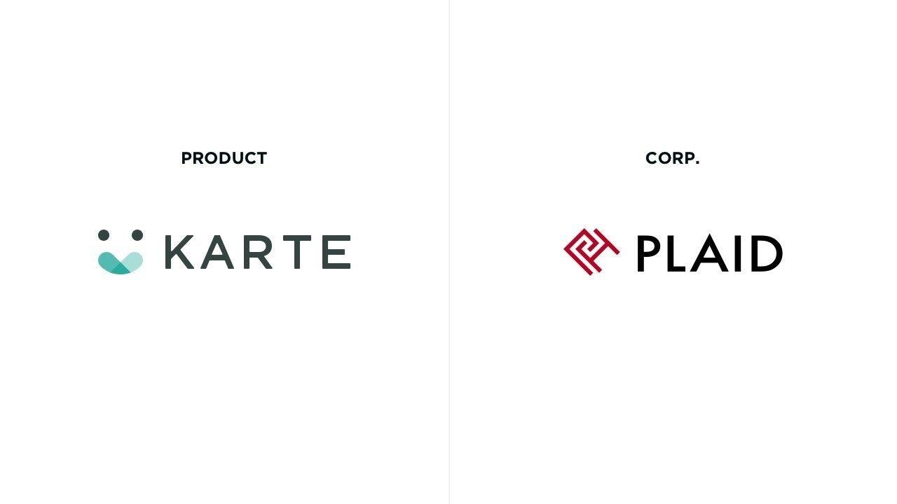 KARTEロゴと旧プレイド社ロゴ